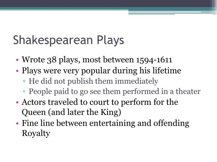 Shakespearean Plays