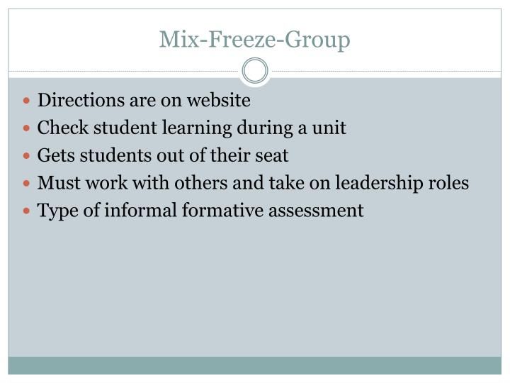 Mix-Freeze-Group