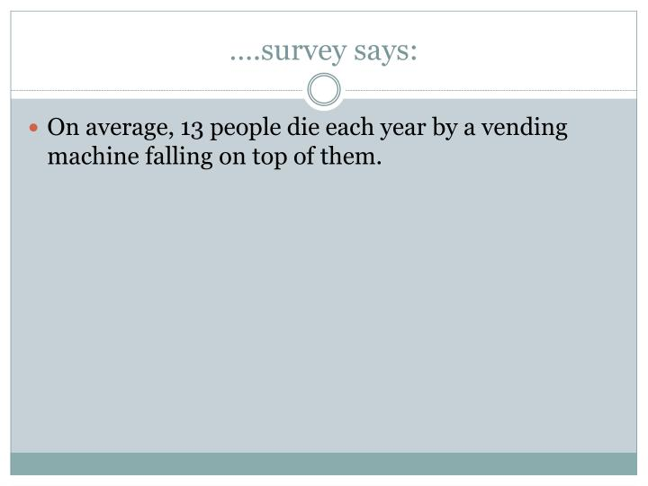 ….survey says: