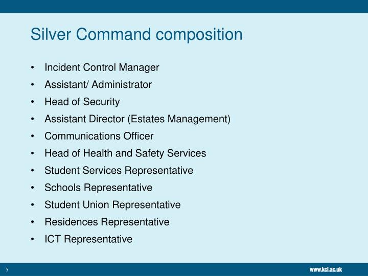 Silver Command composition