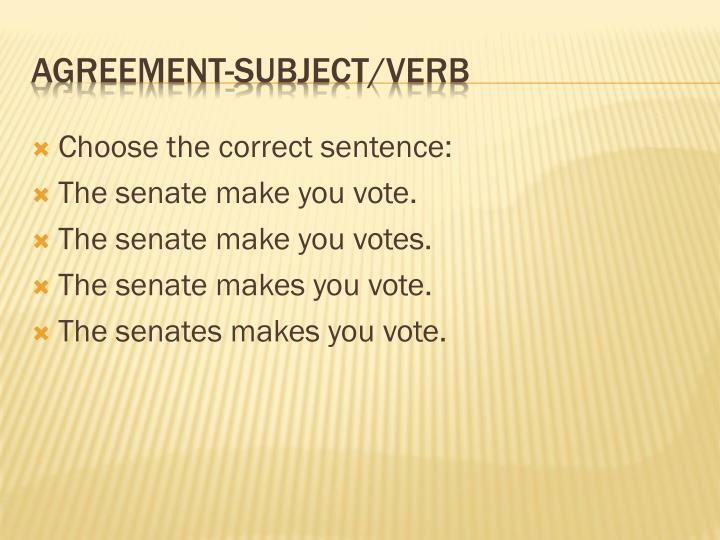Choose the correct sentence: