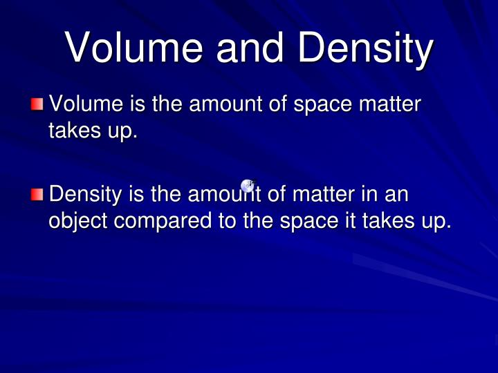 Volume and Density