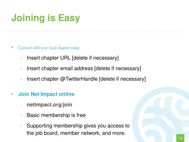 Joining is Easy