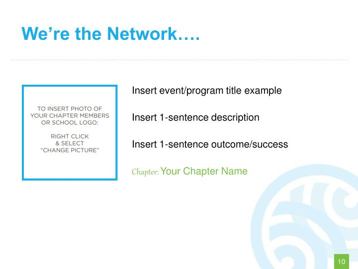 We're the Network….