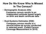 how do we know who is missed in the census