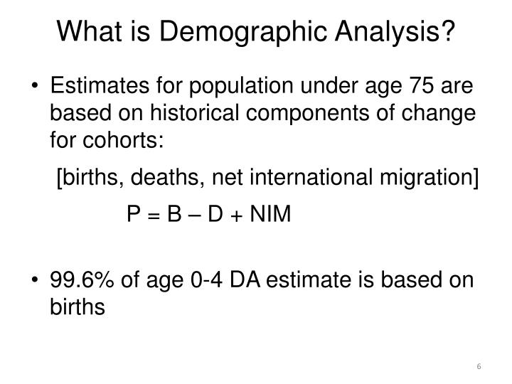 What is Demographic Analysis?