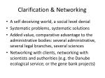 clarification networking