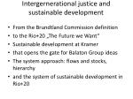 intergernerational justice and sustainable development