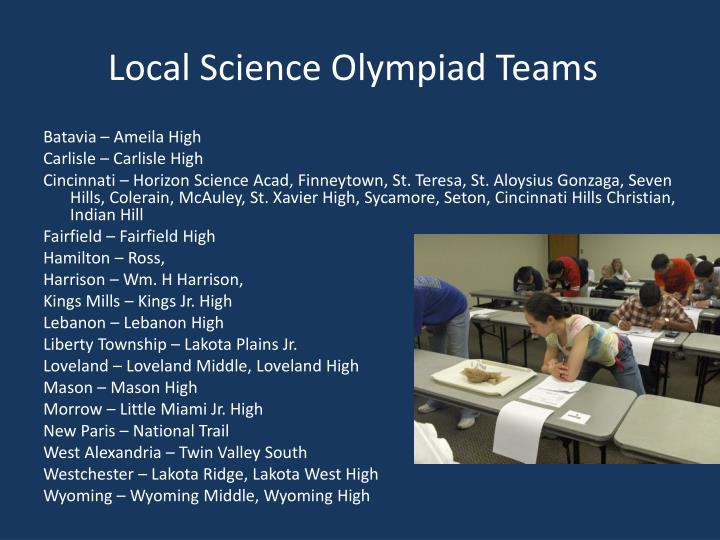 Local Science Olympiad Teams