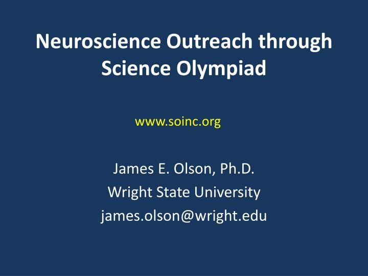 Neuroscience outreach through science olympiad