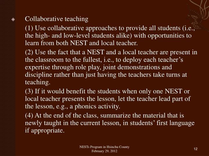 Collaborative teaching