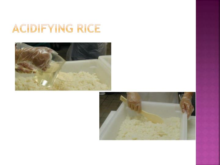 Acidifying Rice