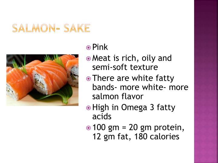 Salmon- Sake