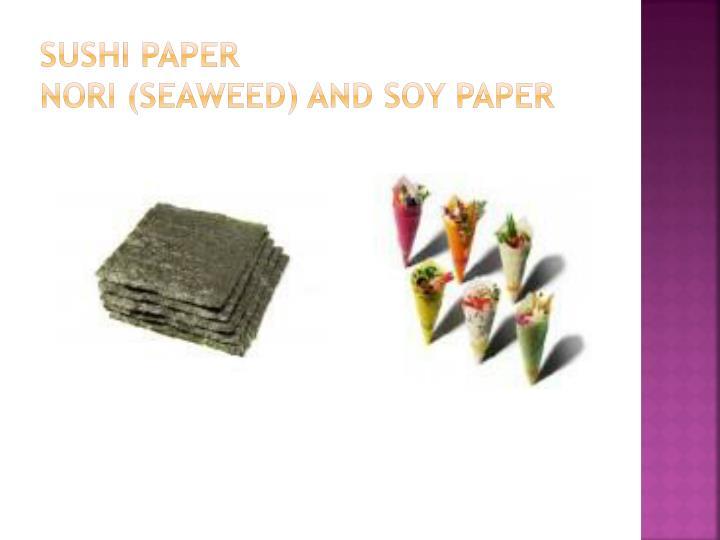 Sushi paper