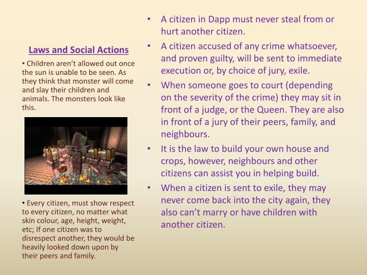 Laws and Social Actions