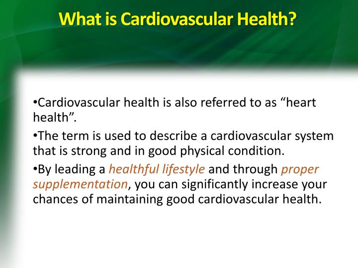 Medical Definition of Cardiovascular