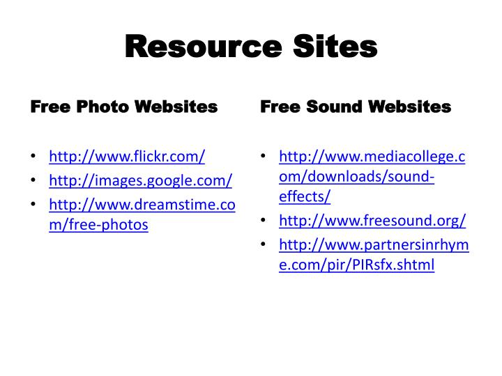 Resource Sites