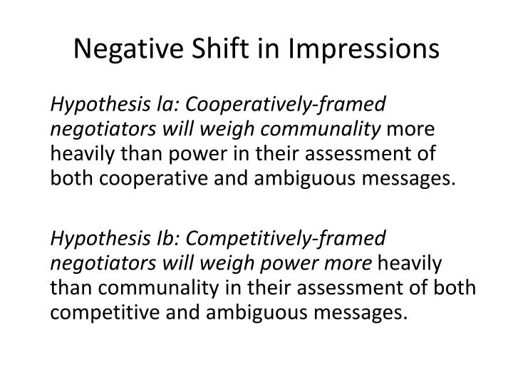 Negative Shift in Impressions