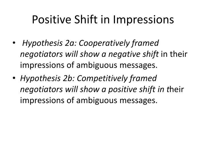 Positive Shift in Impressions