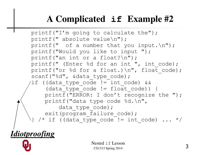 A complicated if example 2