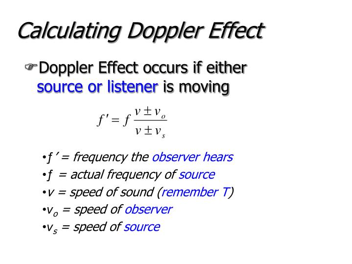 Calculating Doppler Effect