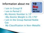 information about me