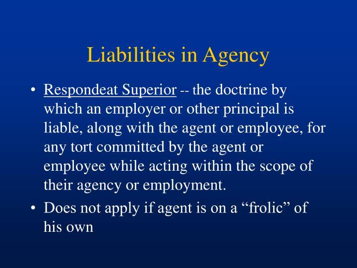 Liabilities in Agency