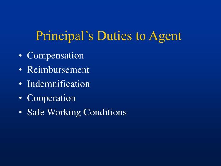Principal's Duties to Agent