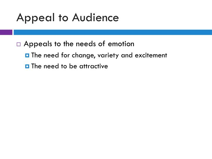Appeal to Audience