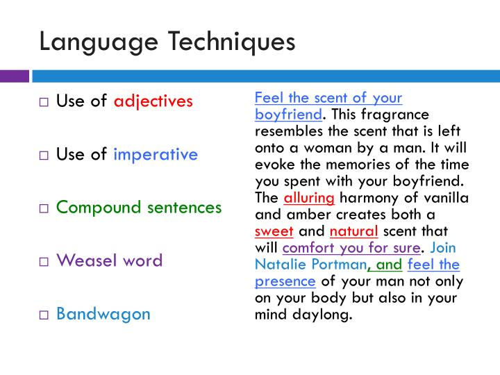 Language Techniques