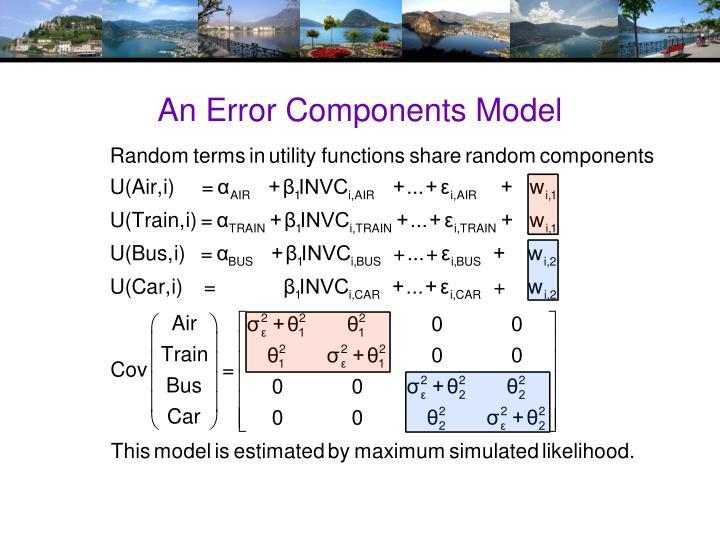 An Error Components Model
