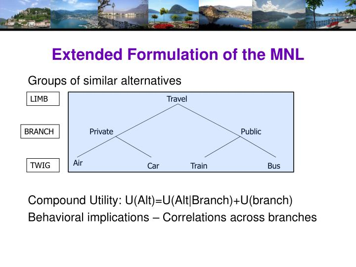 Extended Formulation of the MNL
