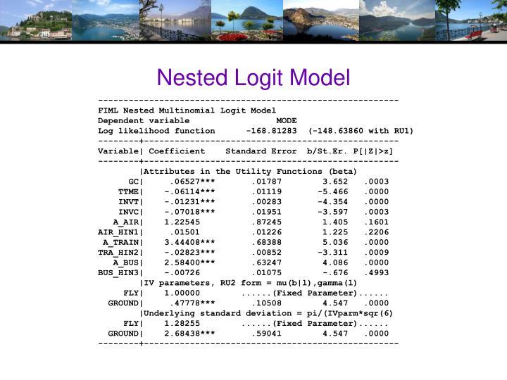 Nested Logit Model