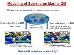 modeling of sub micron marine om