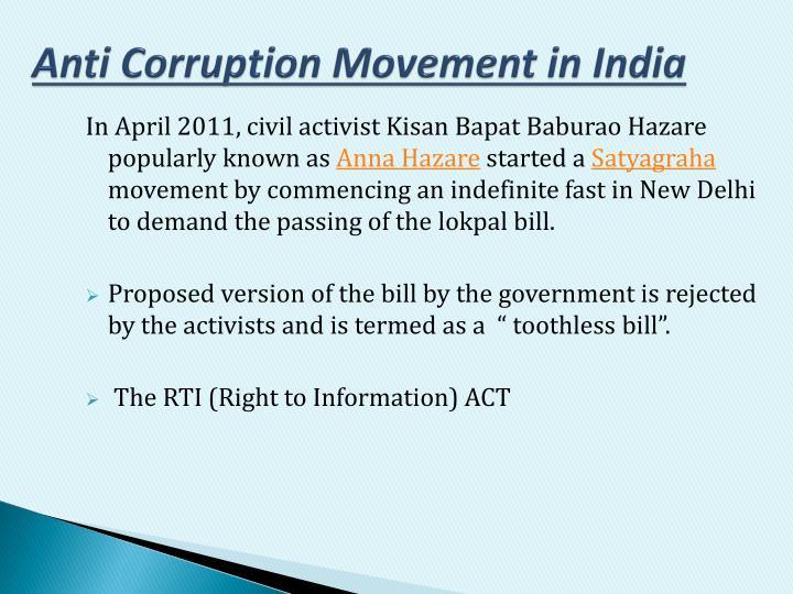 Anti Corruption Movement in India