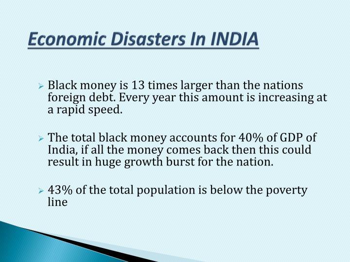 Economic Disasters In INDIA