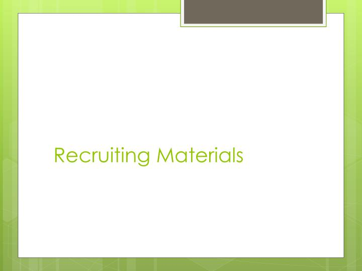 Recruiting Materials