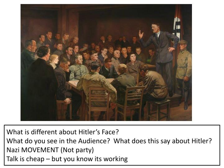 What is different about Hitler's Face?