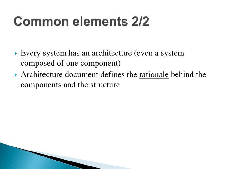 Common elements 2/2