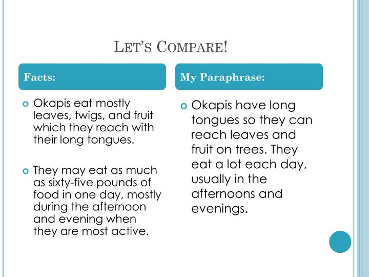 Let's Compare!