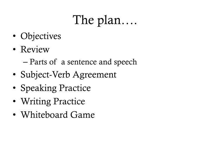 The plan….
