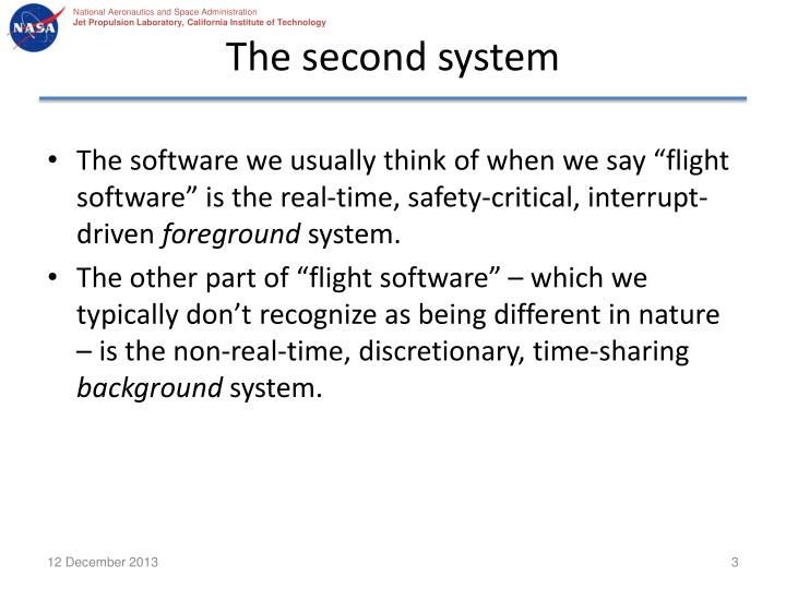 The second system