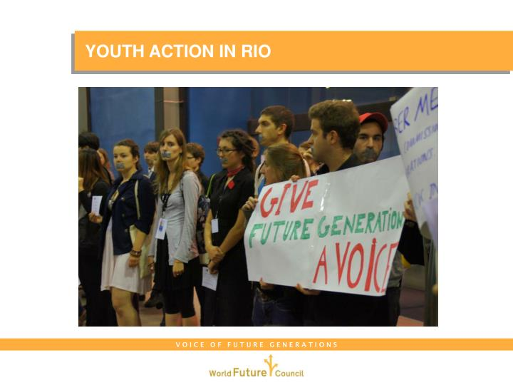YOUTH ACTION IN RIO