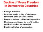 decline of press freedom in democratic countries