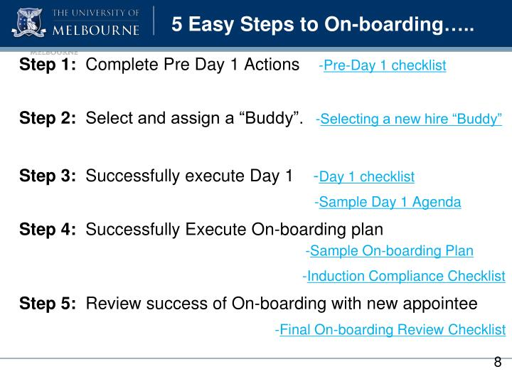5 Easy Steps to On-boarding…..