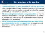 key principles of on boarding