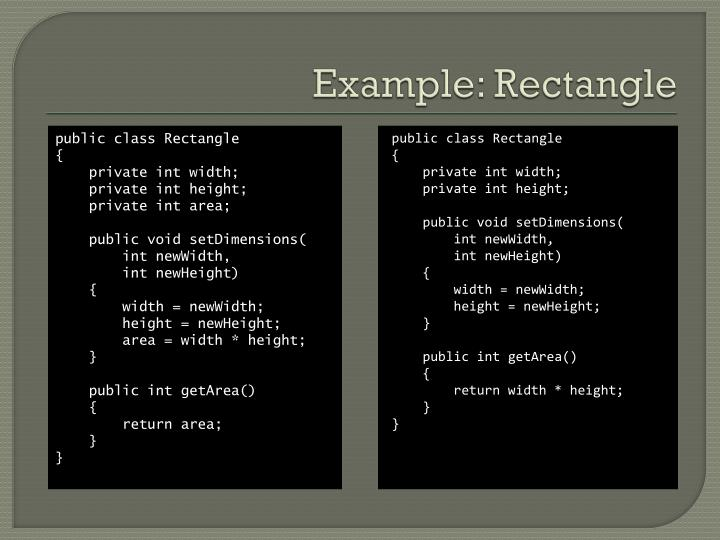 Example: Rectangle