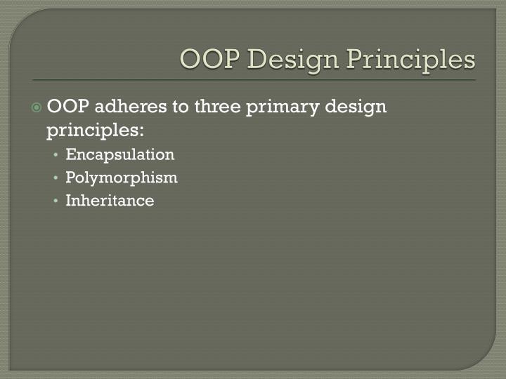 OOP Design Principles