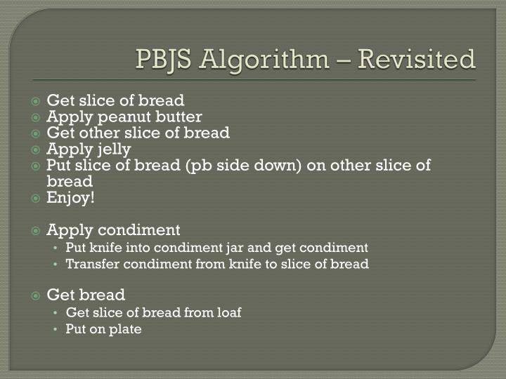 PBJS Algorithm – Revisited