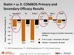 statin 3 combos primary and secondary efficacy results